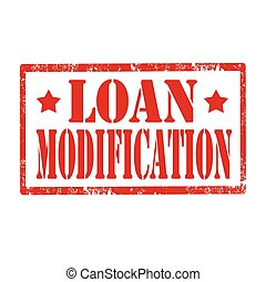 Loan Modification - Grunge rubber stamp with text Loan...