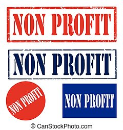 Non Profit - Set of stamps with text Non Profit,vector...