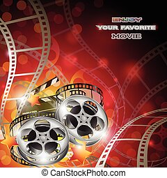 Abstract Cinema Background - Vector abstract cinema...