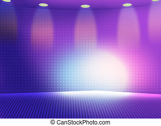 stage lighting - illustration drawing of beautiful purple...