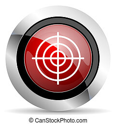 target red glossy web icon