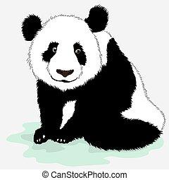 Cute vector panda