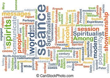 Séance background concept - Background concept wordcloud...
