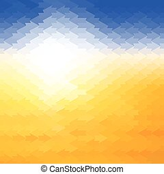 Shiny sun background made of arrow pattern tiles