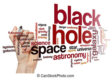 Black hole word cloud concept