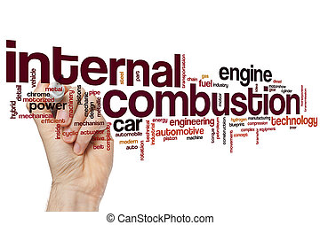 Internal combustion word cloud concept