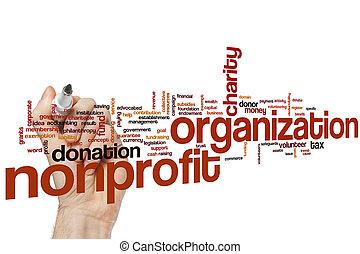 Nonprofit organization word cloud concept