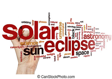 Solar eclipse word cloud concept