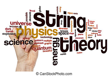 String theory word cloud
