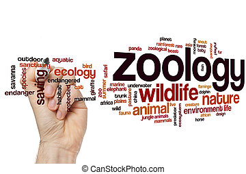Zoology word cloud concept