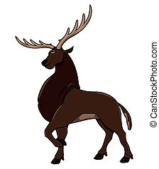 Deer cartoon illustration