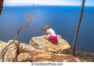 Travel Photographer - Nature travel photographer woman...