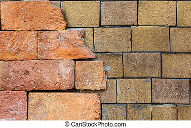 Brick walls - OLd brick wall on texture background