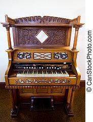 Old church organ - View of an old church organ