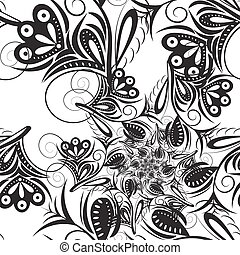 Abstract seamless pattern Black pattern on a white...