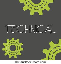 cogwheel technical machine design banner and background...