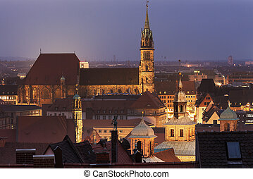 St Sebaldus Church in Nuremberg, Bavaria, Germany