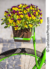 花, 自転車