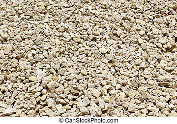 stones - rubble coming from a sand pit, stones