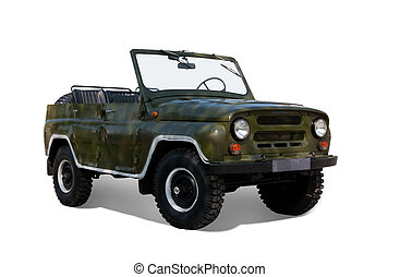 Vintage military car - Vintage offroad military car....