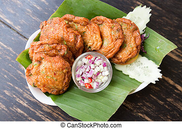 Thai Food Fried Fish Cakes