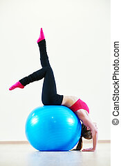 pilates exercises with fitness ball