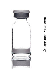 medical glass ampoule bottle with powder