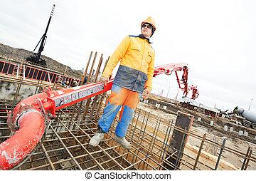 builder worker at concrete work