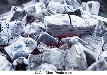 parrilla, ardiendo fuego lento, carbón, Plano de fondo,...