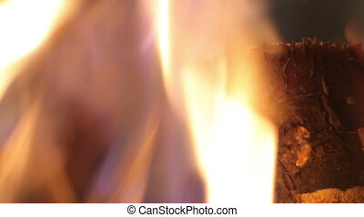 fire in the grill - The fire in the grill. Burning firewood....