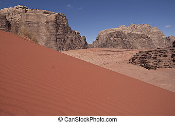 Wadi-Rum desert. - The beautiful Wadi-Rum desert in Jordan.