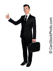 Business man ok sign - Isolated business man ok sign