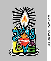 Candle, art vector design