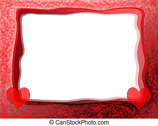 Red Hearts Frame - Elegant romantic love photo frame with...