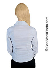 Business woman back view