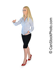 Business woman carry something - Isolated business woman...