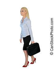 Business woman walk side
