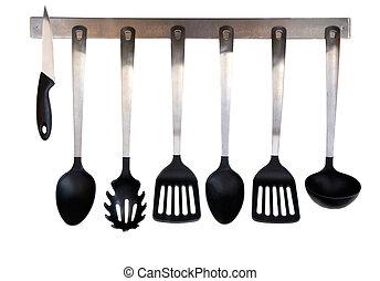 Kitchen utensils - Steel and plastic kitchen utensils...