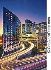 La Defense, Paris - Image of office buildings in modern part...