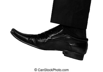 Business man foot - Isolated business man foot crush...