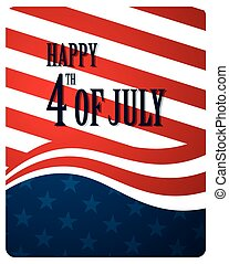 Independence Day - Vector Illustration of an Abstract...