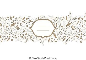 Floral Design - Vector Illustration of a Floral Design