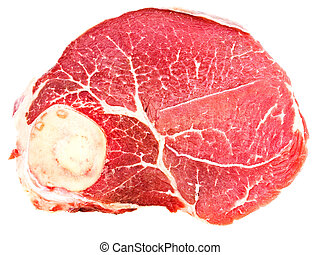 raw meat - Photo of the raw meat against the white...