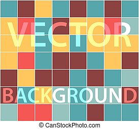Abstract background with randomly colored squares. Stylish...