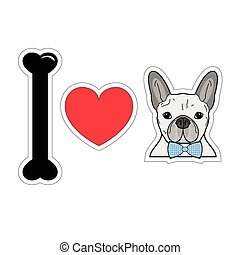 I love french bulldog hipster 1 - I love french bulldog...