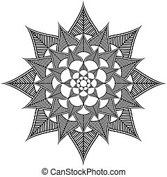 Indian culture inspired flower icon