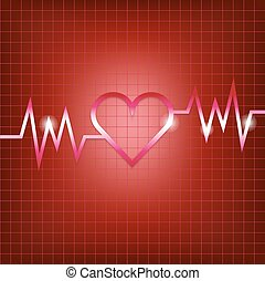 Heart shape concept with pulsation