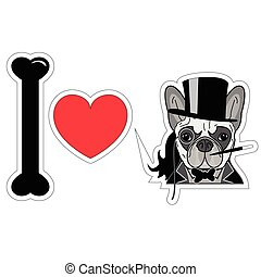 I love french bulldog old fashion gentleman style with...