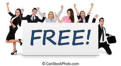 Free word on banner - Free word writing on banner