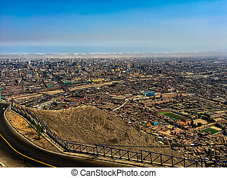 Lima - panoramic view of Lima city, Peru